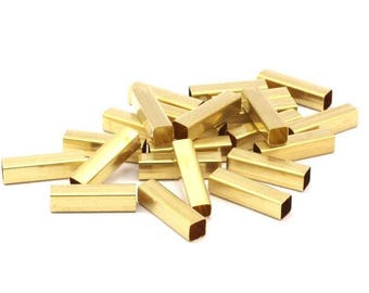 35 Raw Brass Square Tubes (5x20mm) Bs1602