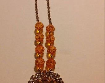 Costume orange necklace