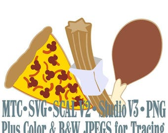 Amusement Park Embellishment Mouse Treats #03 Digital ScAL MTC SvG Cut Files JPEG PNG