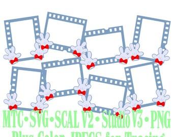 Filmstrip Frames Boy & Girl Mouse Hands Design #02 Amusement Park Embellishments Cut Files MTC SVG SCAL and more File Format