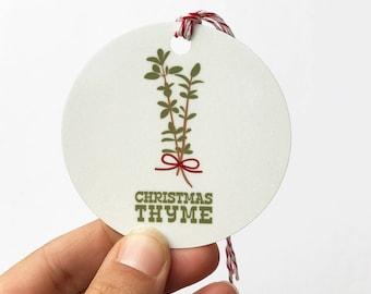 christmas thyme ornament, christmas gift, christmas ornament, christmas decor, christmas decorations, punny gift