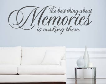 Lasting Memories Decor, Living Room Wall Decal, Living Room Wall Art,  Living Room Part 84