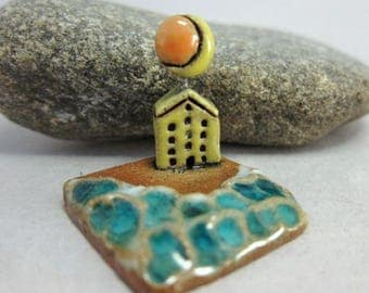 MyLand - Summer School...Collectible 3x3 cm or 1.2x1.2 in. puzzle in stoneware
