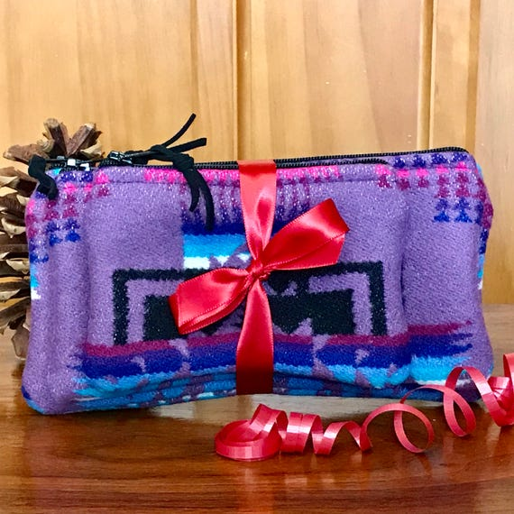 Gift Set of 3 / Organizer Set / Travel Set Wool Salmon Pink