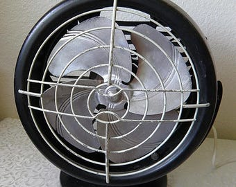 christmasinjuly Vintage DOMINIQUE Electric Fan, Black Housing, Very Cool