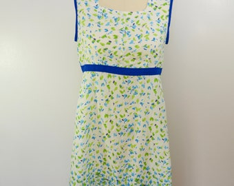 Vintage Floral SUMMER DRESS lightweight sleeveless