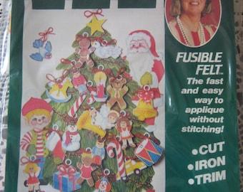 Vintage 1984 Erica Wilson Felt Advent Calendar Kit with Beads & Sequins