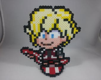 Shulk - Xenoblade - Nintendo Super Smash Bros - Perler Bead Sprite Pixel Art Figure Stand or Lanyard Necklace