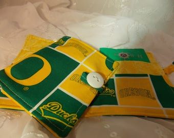 University of Oregon Wallet, Duck Wallet, Tea Storage, Green and Yellow Wallet, Emergency Tea Supply, Office Gift