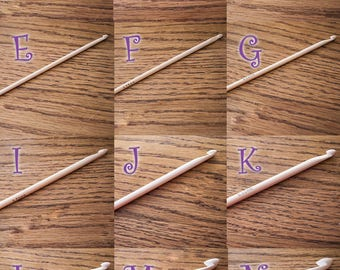 Bamboo Crochet Hook - Sizes B/1 (2.25mm) to N/15 (10.0mm)