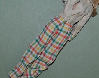 Vintage Barbie Clone Plaid Pants and Jacket by Petite