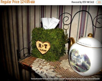 Save25% Personalized Moss Tissue Box Cover-Preserved Moss Woodland forest tissue box cover