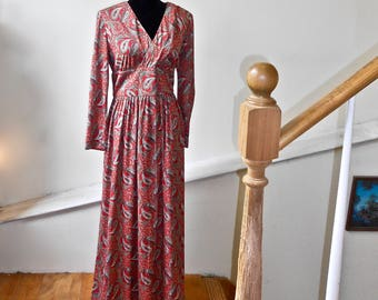 1970s Formal Paisley Gown