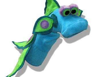 REDUCED Handmade Turquoise Tropical Fish Sock Puppet