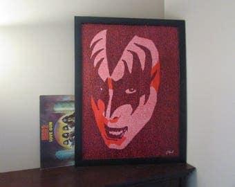 Gene Simmons from Kiss Word Art