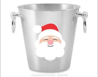Santa Claus Decal, Christmas Sticker, Santa Decal, Happy Holidays, Merry Christmas, window sticker, door decal, Vinyl Santa, Wall Decal