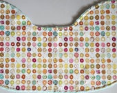 Baby Burp Cloth - Tasty Donuts on Mint Green Minky, Contoured Burp Cloth Burpie Sweet Treats Donuts