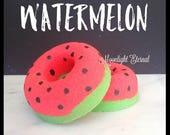 Watermelon Donut Bath Bomb - Donut Bath Bomb - Watermelon Sparkle Bomb - Handmade Bath Bomb - Bath Fizzy - Avocado Oil