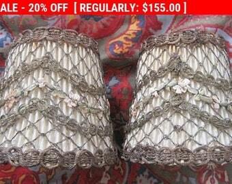 Antique Ribbonwork Shades Metallic Boudoir Flapper French