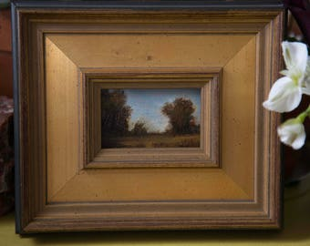 "Serenity - Framed Original Mini 2""x3"" Oil Painting by Megan Gray Arts"