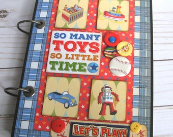 Little Boys & Toys Scrapbook- Premade Scrapbook Album