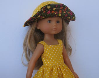 Clothes for Corolle Les Cheries,Paola Reina Doll Dress and Hat