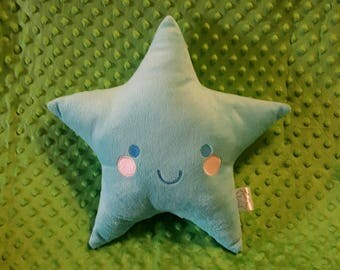 NEW COLOR! AQUA Soft Star Plush