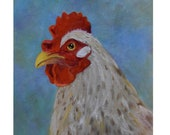 RESERVED for D., Ms Hen November, Custom Painting, Animal Painting,Original Oil Painting On Canvas by Cheri Wollenberg