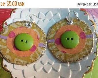 super sale paper mache earrings