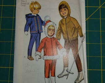 Vintage Toddler Ski Jacket Pants Simplicity 8473