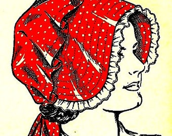 How to Make a Vintage Sunbonnet Sewing Pattern - Sz Woman to Child 727003