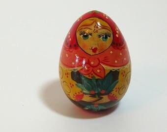 Matryoshka Style Painted Egg Doll