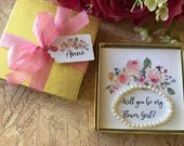 Will You Be My Flower Girl Bracelet, Flower Girl Bracelet Gift, Flower Girl Pearl Bracelet, Will You Be My Flower Girl Card
