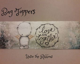 NEW Bag Toppers Artic Bear, love Being together Sentiment 8-count