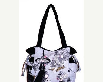 SALE & FREE SHIPPING- Ghastlies Ghastly Witches - Handbag, Purse, Tote, Shoulder Bag, Outside Pockets