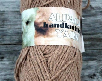 Kraemer Alpaca Handknitting DK Yarn- Made in USA- Alpaca & Merino- Lovely! Color Fawn Y1912