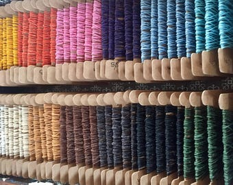 Bookbinders waxed linen thread, 4 ply, 10 metre cards