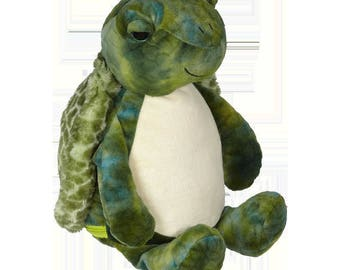 Personalized Stuffed Animal, Baby Birth Announcement, Baby Shower Gift, Monogrammed Turtle