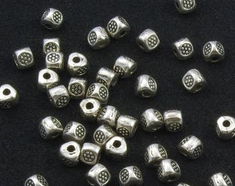 Pewter Hill Tribe Silver Style Three Sided Spacer Beads 5mm - 30