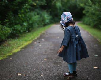 Blue Gray Linen Dress | Linen Dress | Linen Baby Dress | Linen Toddler Dress | Girls Linen Dress | Gray Dress | Linen Clothes | Blue Dress