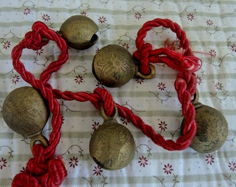 Vintage Bells of Sarna, Made In India, 5 Brass Bells