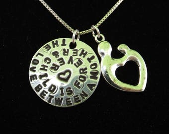 The Love Between a Mother and Child is Forever necklace, Motherhood necklace, Mother's Day gift, Gifts for Mom, Mom necklace