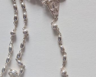Sterling Silver Rosary Fatima Mother of Children
