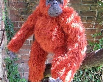 40% OFF SALE My Pet Orangutan toy animal monkey knitting pattern immediate pdf digital download