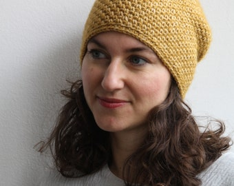 Xriss Xross Honey Bee Yellow Stonewashed Crochet hat