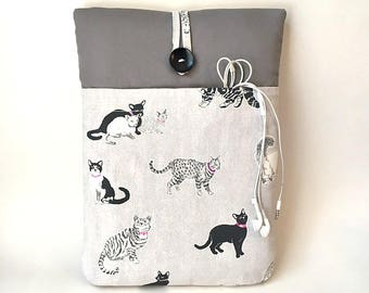 Cat MacBook Air 13 Sleeve, Cat MacBook Pro Retina Case, MacBook Pro Cover, 13 .3 inch Cat Laptop Pouch, Kitten Laptop Bag Cord Pocket Sac