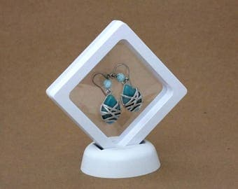 3D See Thru Suspension Display 2 5/8 Inch By 2 5/8 Inch White