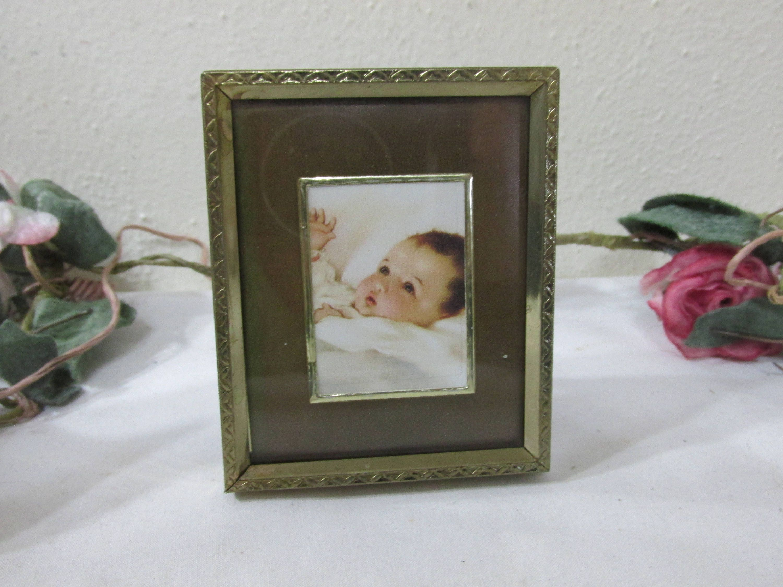 Picture frames wallet size photos 2 12 x 3 12 vintage metal sold by luruuniques jeuxipadfo Image collections