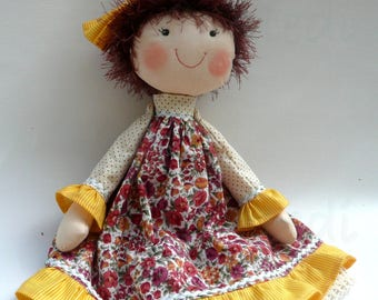 "Unkempt rag doll 16 ""- DEPOSIT ONLY, Fabric doll, One of a kind rag doll, Custom doll, Handmade doll, Soft doll, Gift for girlsfriend"