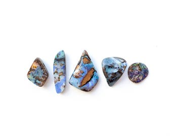 Boulder Opal Cabochons, Koroit Opal Pendants
